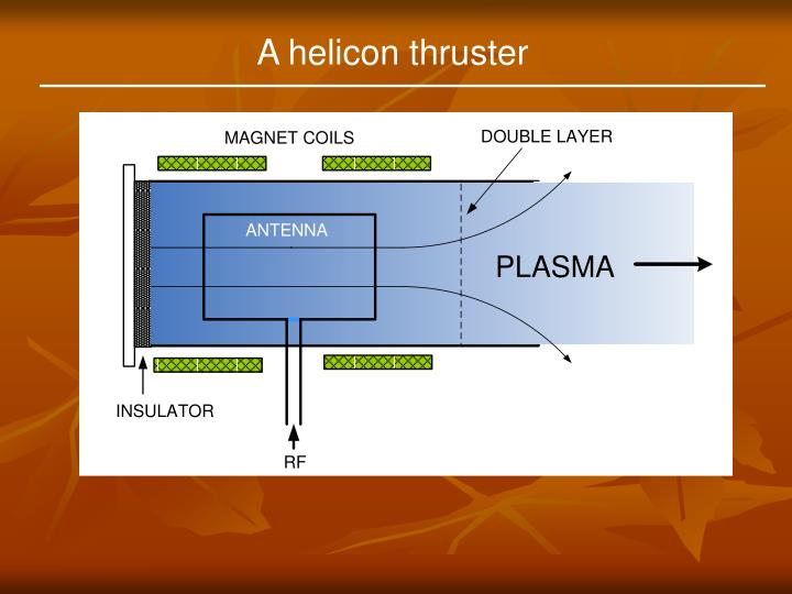 A helicon thruster