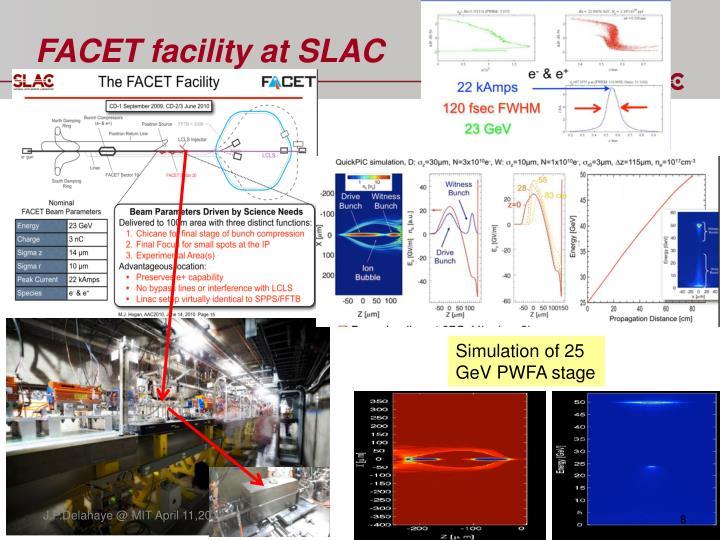 FACET facility at SLAC