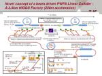 novel concept of a beam driven pwfa linear collider a 2 5km higgs factory 250m acceleration