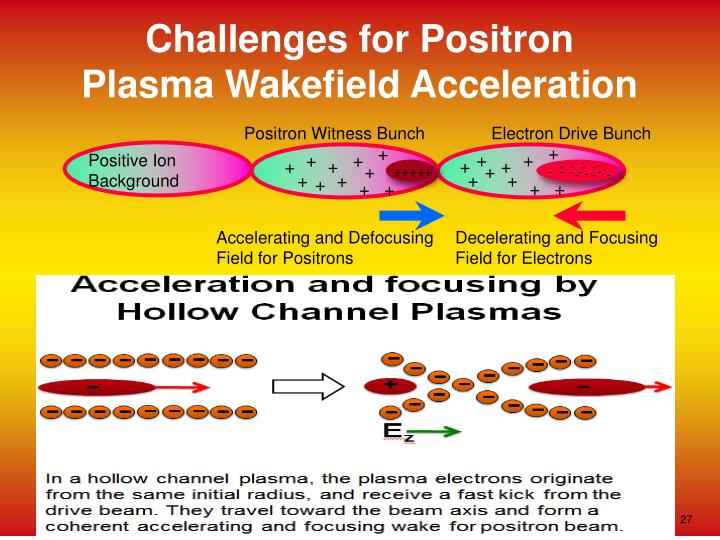 Challenges for Positron