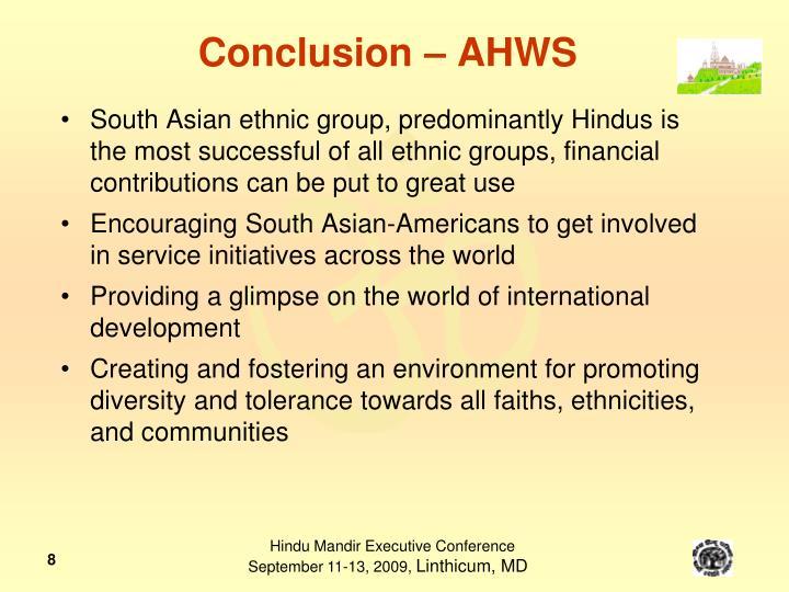 Conclusion – AHWS