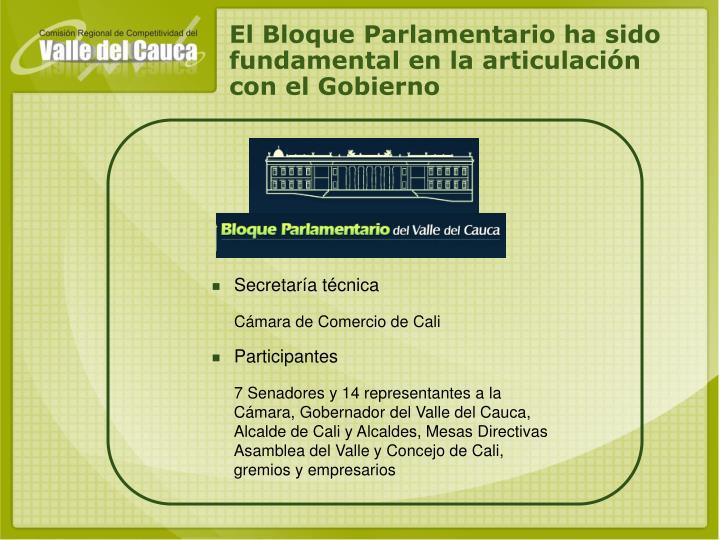 El Bloque Parlamentario ha sido fundamental en la articulación con el Gobierno