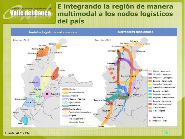 E integrando la región de manera multimodal a los nodos logísticos del país