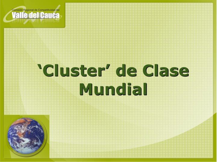 'Cluster' de Clase Mundial
