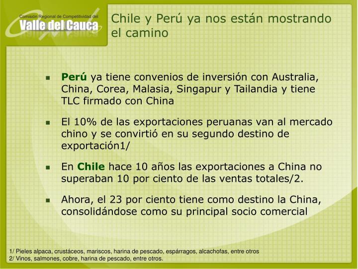 Chile y Perú ya nos están mostrando el camino
