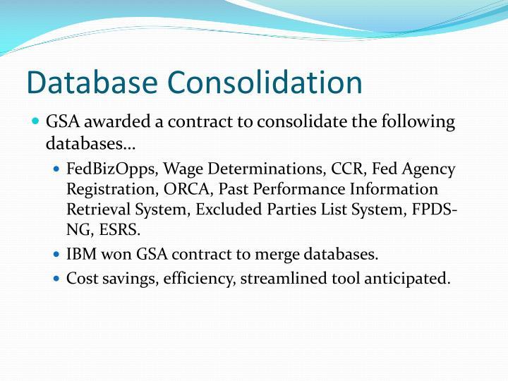 Database Consolidation