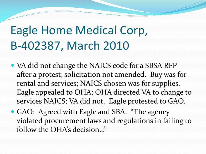 Eagle Home Medical Corp,