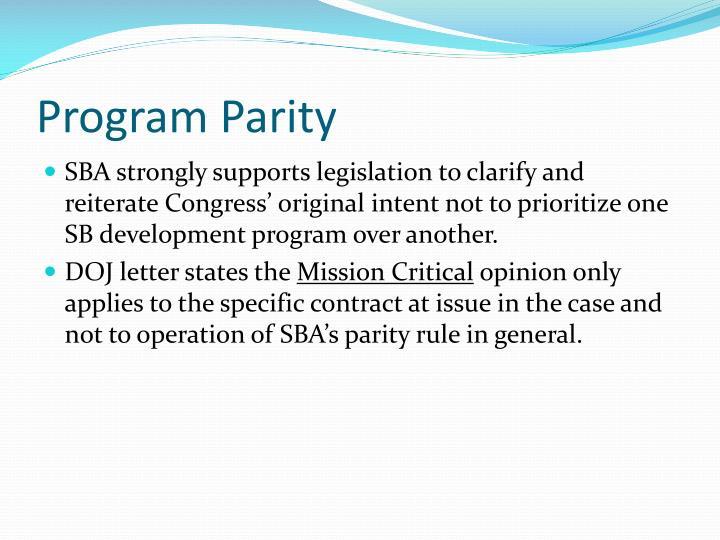 Program Parity