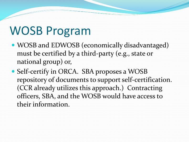 WOSB Program