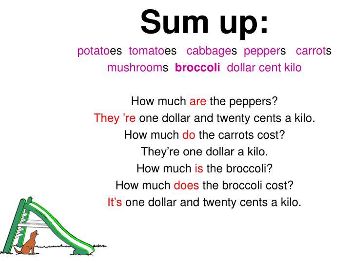 Sum up: