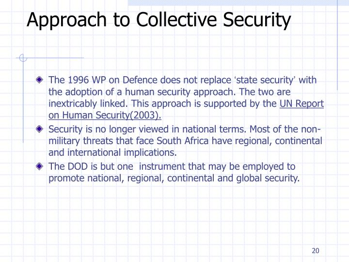 Approach to Collective Security