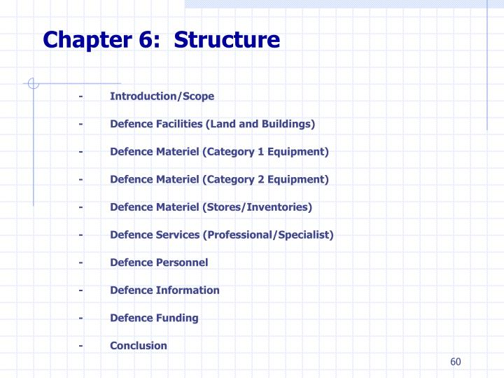 Chapter 6:  Structure
