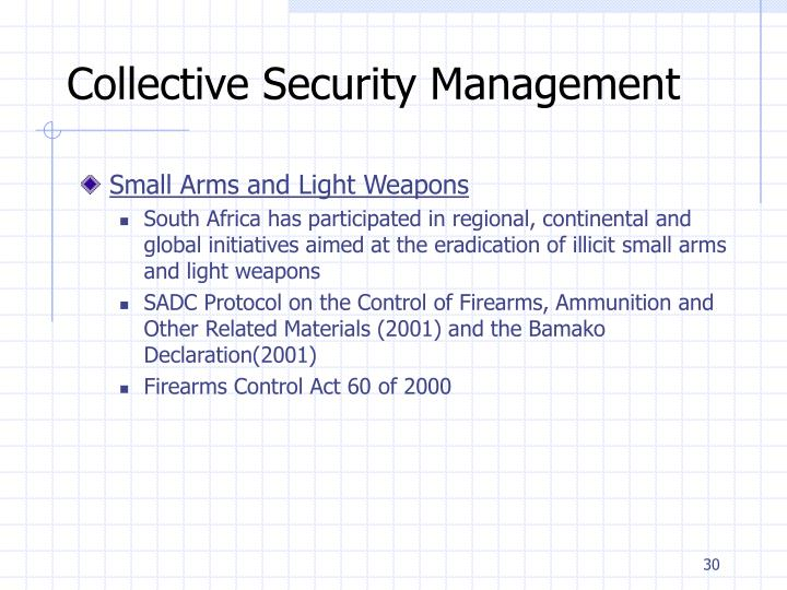 Collective Security Management