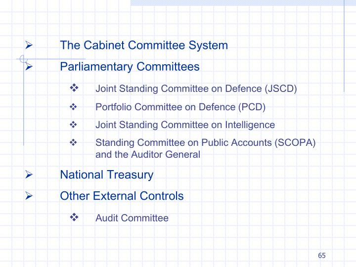 The Cabinet Committee System