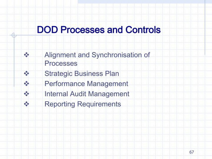 DOD Processes and Controls