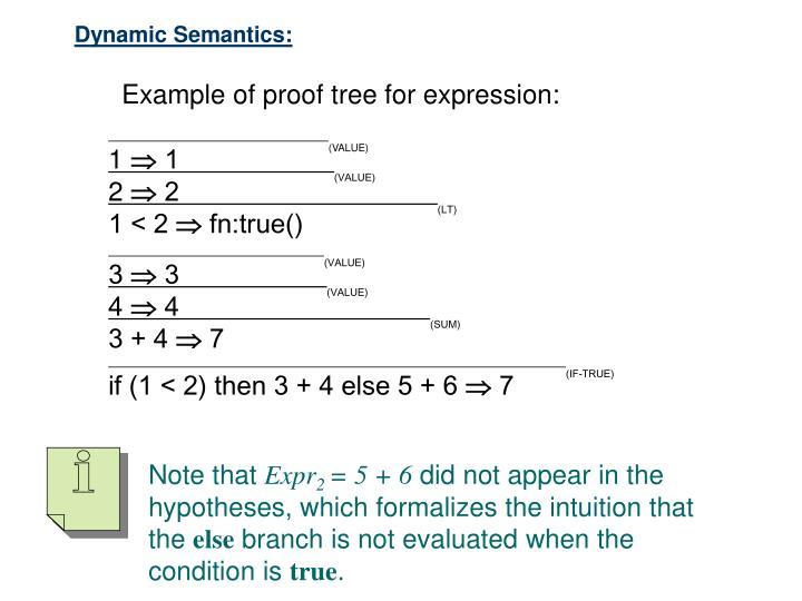 Dynamic Semantics: