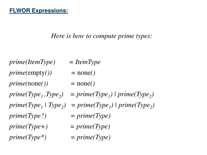 FLWOR Expressions: