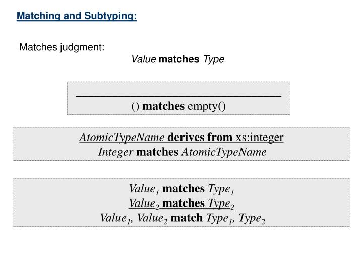 Matching and Subtyping: