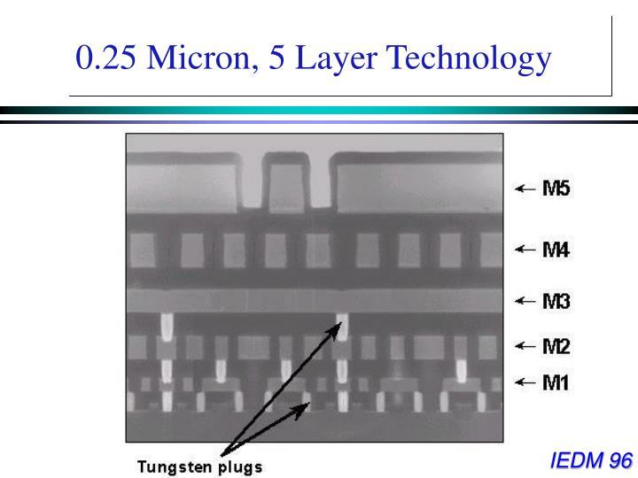 0.25 Micron, 5 Layer Technology