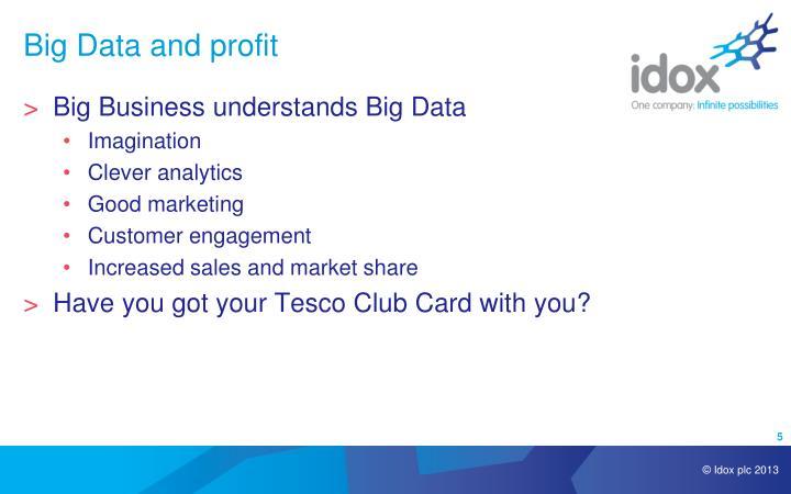 Big Data and profit