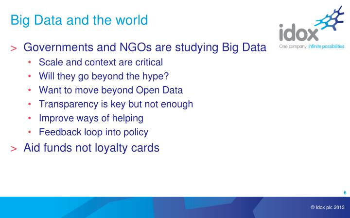 Big Data and the world