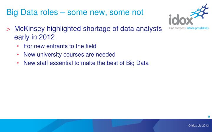 Big Data roles – some new, some not