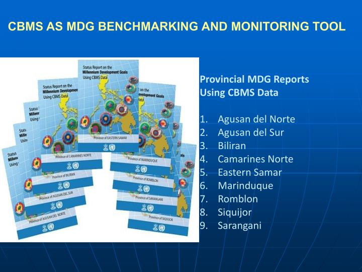 CBMS AS MDG BENCHMARKING AND MONITORING TOOL