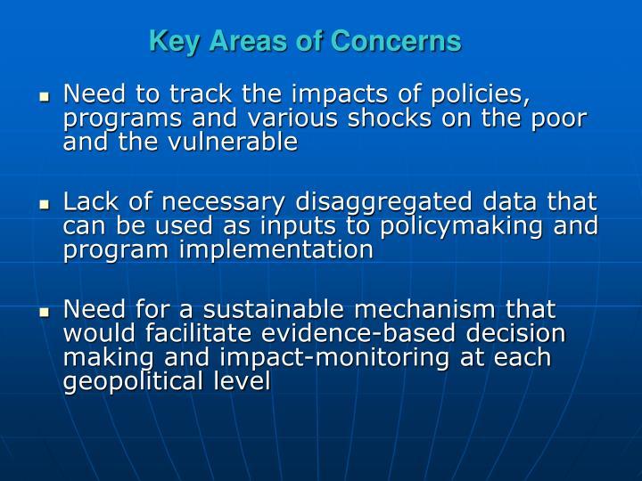 Key Areas of Concerns