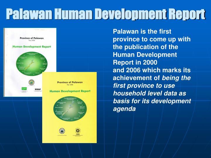 Palawan Human Development Report