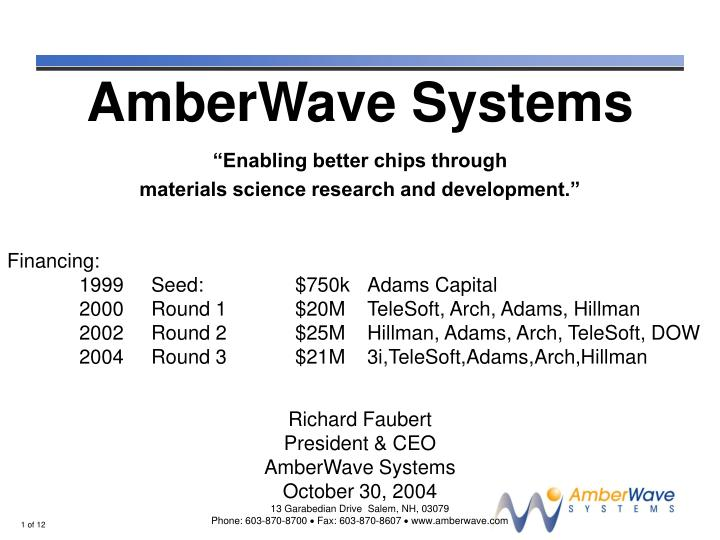 AmberWave Systems