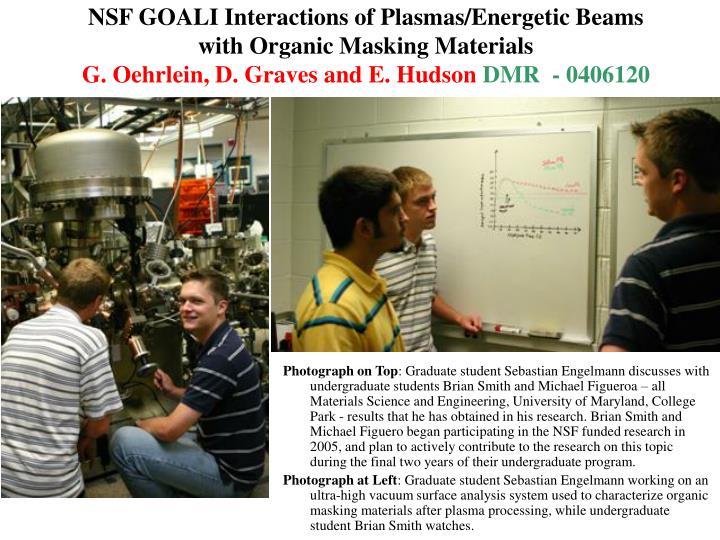 NSF GOALI Interactions of Plasmas/Energetic Beams