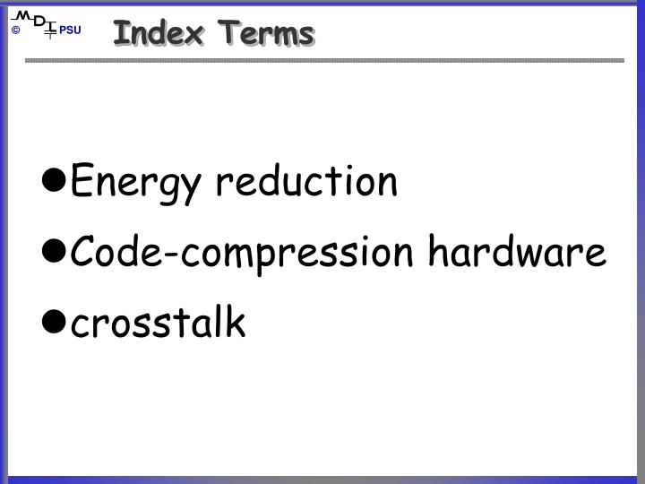 Index terms