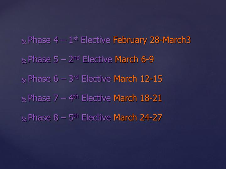 Phase 4 –