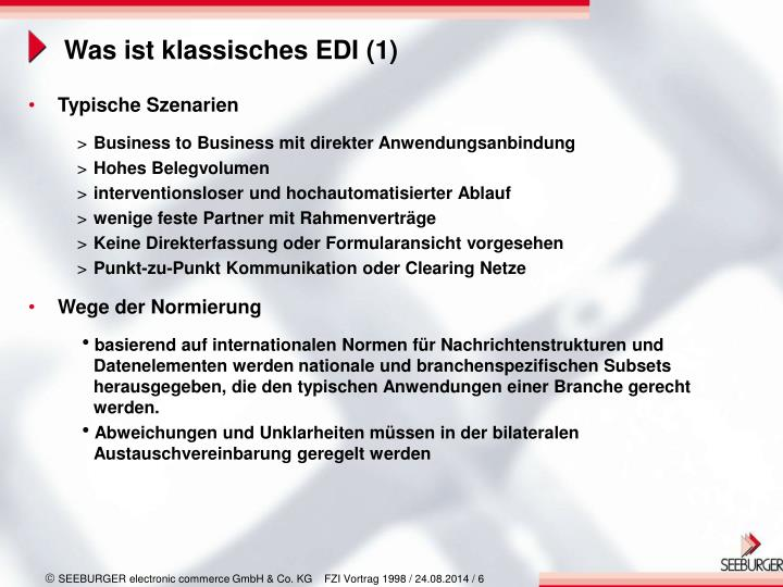 Was ist klassisches EDI (1)