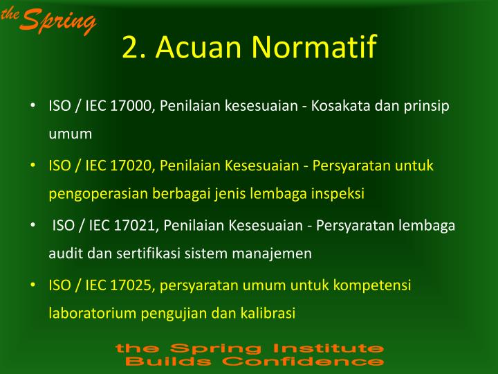 2. Acuan Normatif
