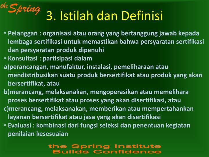 3. Istilah dan Definisi