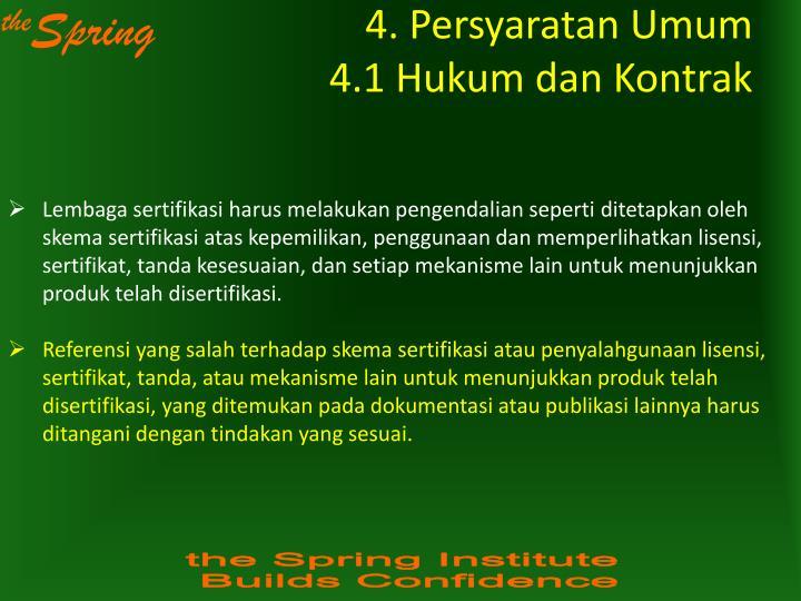 4. Persyaratan Umum