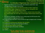 5 persyaratan struktural 5 1 struktur organisasi dan manajemen puncak