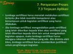 7 persyaratan proses 7 3 tinjauan aplikasi
