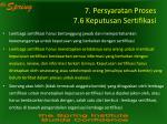 7 persyaratan proses 7 6 keputusan sertifikasi