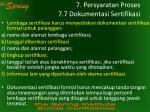 7 persyaratan proses 7 7 dokumentasi sertifikasi