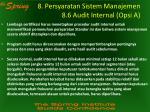8 persyaratan sistem manajemen 8 6 audit internal opsi a