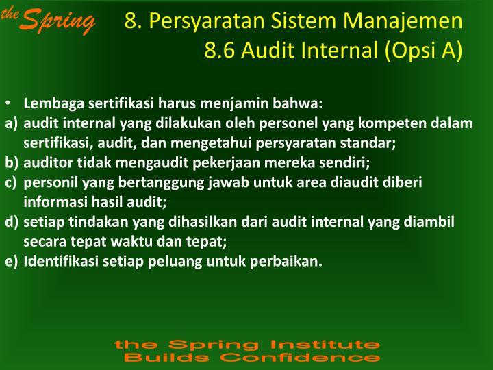 8. Persyaratan Sistem Manajemen