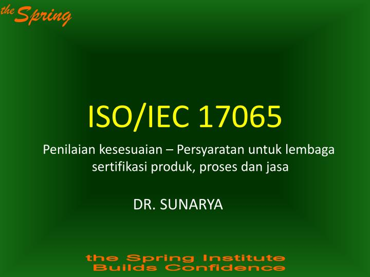 ISO/IEC 17065
