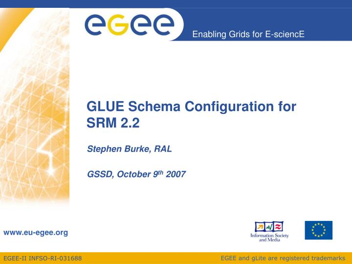 GLUE Schema Configuration for SRM 2.2