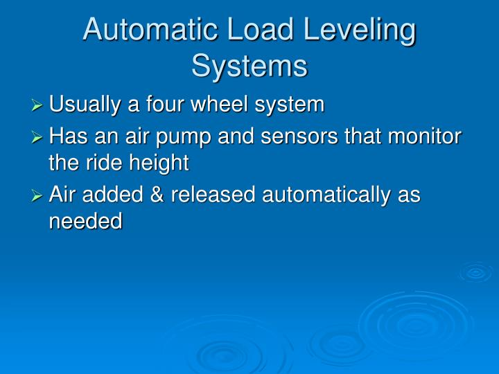 Automatic Load Leveling Systems