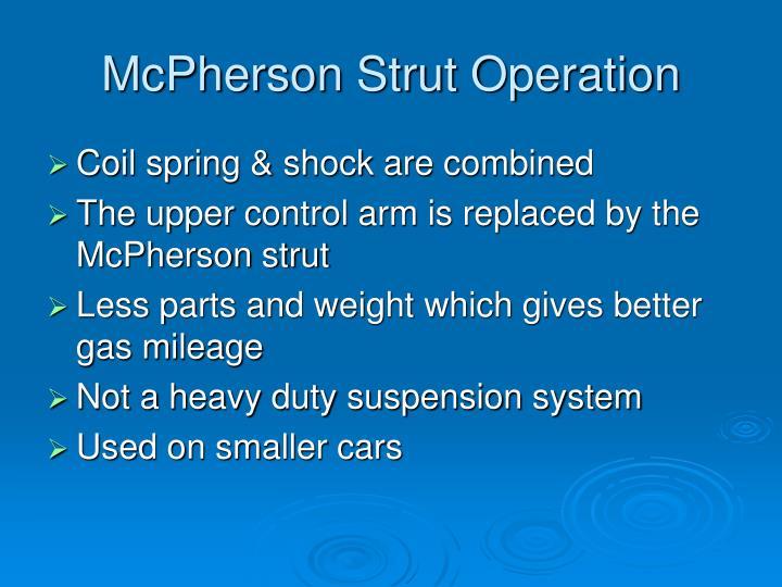 McPherson Strut Operation