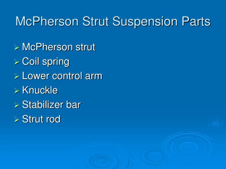 McPherson Strut Suspension Parts