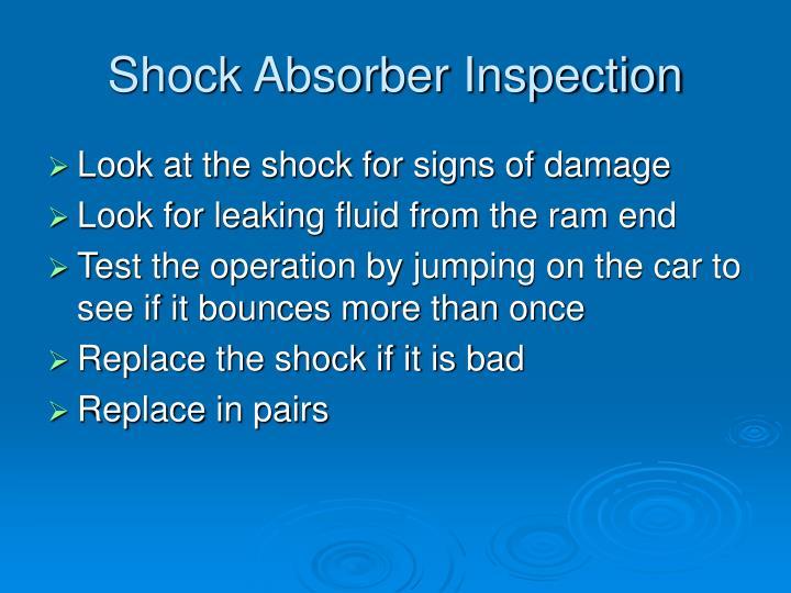 Shock Absorber Inspection