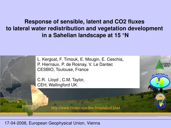 Response of sensible, latent and CO2 fluxes